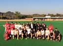 SA Men's Hockey Team after the final selection game with the Dutch ambassador